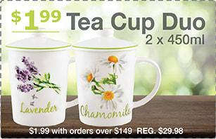 Tea Cup Bonus Offer with Purchase