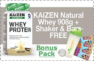Whey Protein Plus Free Bonus Pack