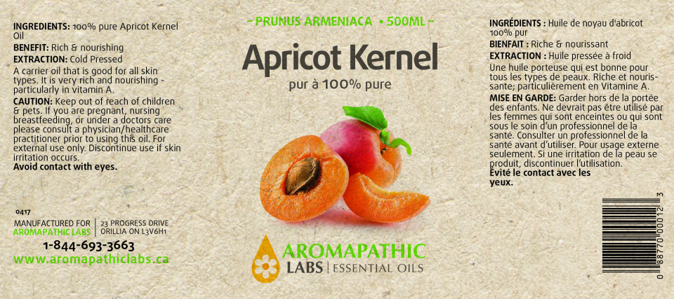 APRICOT KERNEL CARRIER OIL (100% PURE) - 500ML + 250ML FREE