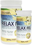 RELAX MG MAGNESIUM POWDER (VANILLA) 300MG - 500G + 250G FREE