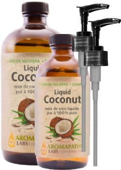 COCONUT CARRIER OIL (100% PURE) (LIQUID) - 500ML + BONUS ITEM