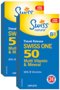 SWISS ONE 50 TIME RELEASE MULTI - 72 CAPLETS + 72 CAPLETS (2 FOR DEAL)