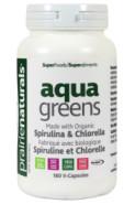 AQUA GREENS SPIRULINA & CHLORELLA - 180VCAPS