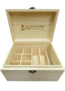 SOLID WOOD VINTAGE ESSENTIAL OIL BOX – 6 X 100ml - 8 X 30ml - 6 X 10ml