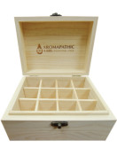 SOLID WOOD VINTAGE ESSENTIAL OIL BOX – 12 X 30ml