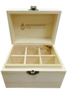 SOLID WOOD VINTAGE ESSENTIAL OIL BOX – 6 x 30ml