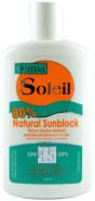 80% NATURAL SUNBLOCK SPF45 - 240ML